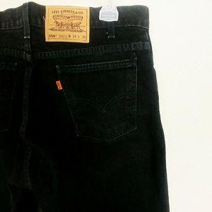 Levi's 550's ORANGE TAB Black Straight Jeans 34/30